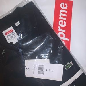 Supreme x Lacoste long sleeve polo shirt
